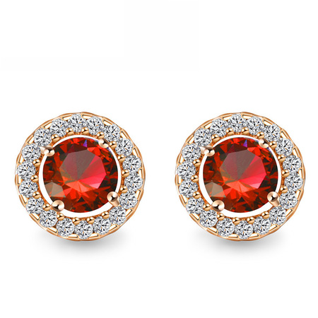 Satr Surround Round Stud Earrings