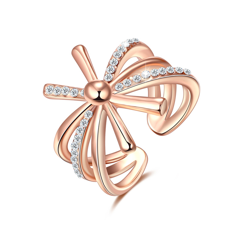 Gorgeous Flower Rose Gold Ring