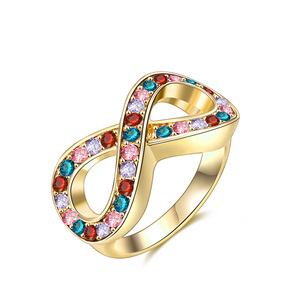 Infinity Mixed Diamond Ring - Yellow