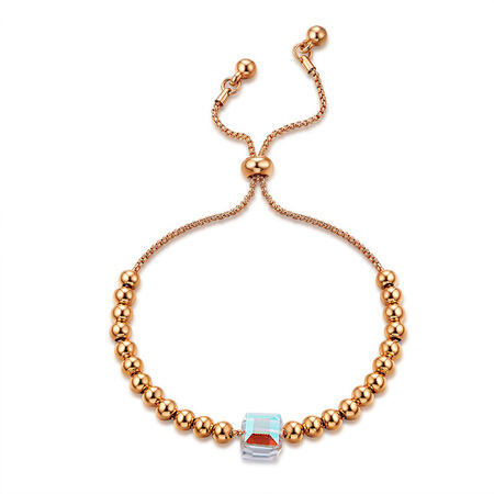 Rose Gold Bead Adjustable Bracelet