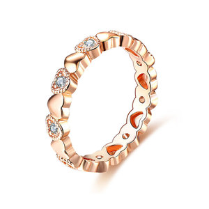 Heart to Heart Diamond Rose Gold Ring