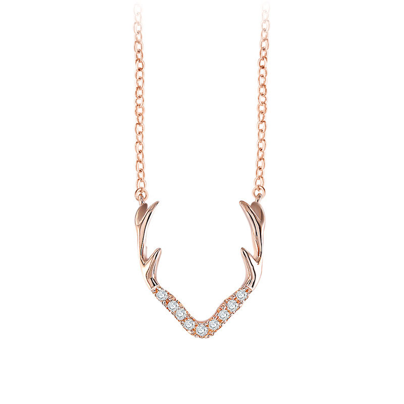Caribou Horn Rose Gold Necklace