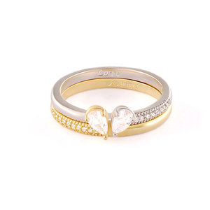 Satisfied Heart Two-Tone Ring Set