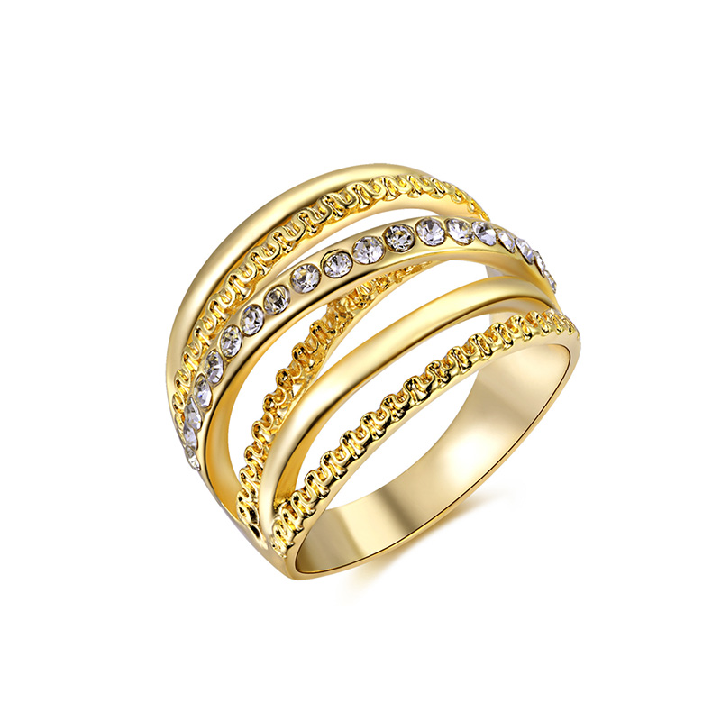 Multi-wire Yellow Gold Ring
