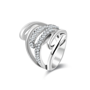 Open Branches White Gold Ring
