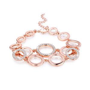 Multi-Ring Link Rose Gold Bracelet