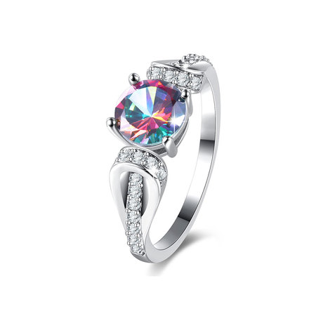 Multi-Colour Round Diamond Ring