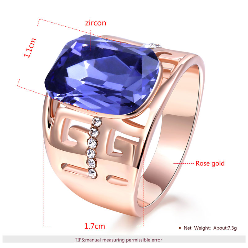 Great Wall Sapphire Rose Gold Ring