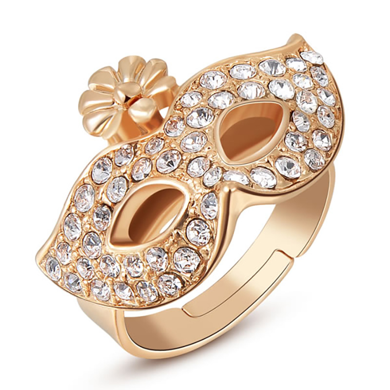Mask Rose Gold Ring