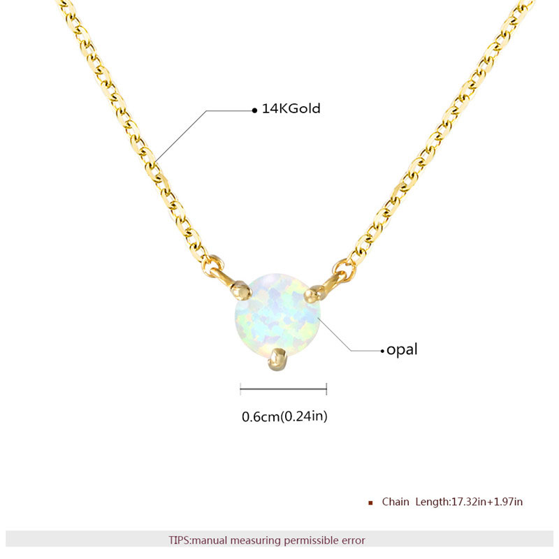 Three Paw Solitaire Opal 18K Gold Necklace