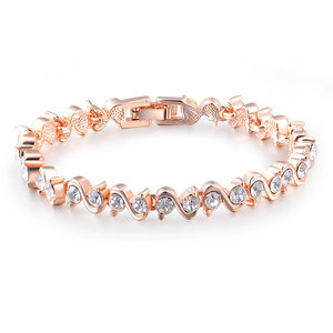Twine Diamond Rose Gold Bracelet