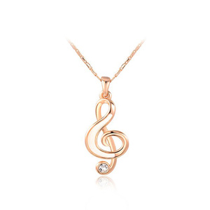 Music Char Rose Gold Pendant