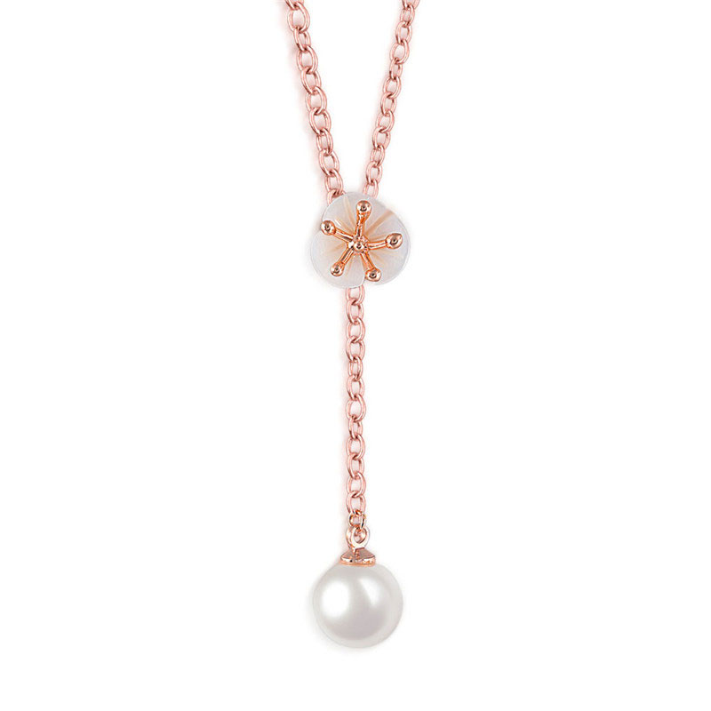 Petal & Pearl Rose Gold Necklace