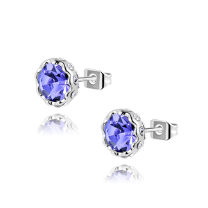 Saussurea Amethyst Stud Earrings