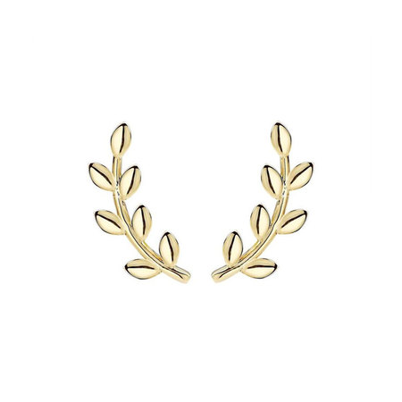Leaves Sterling Silver Stud Earrings