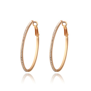 Concise Rose Gold Hoop Earrings
