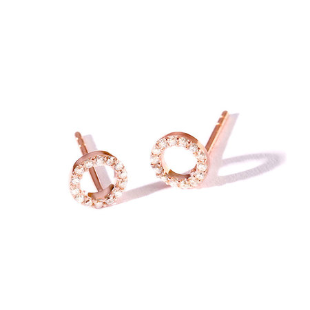 Circle 925 Sterling Silver Stud Earrings