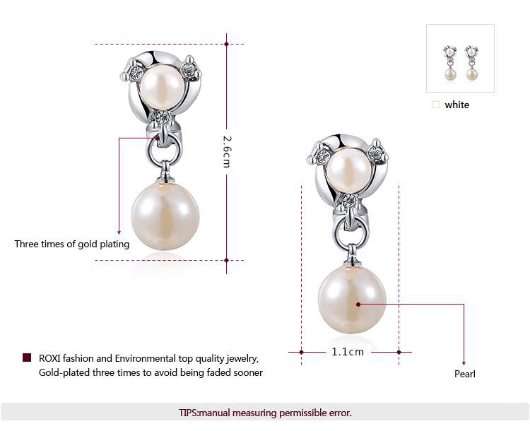 Double Pearl Earrings - White
