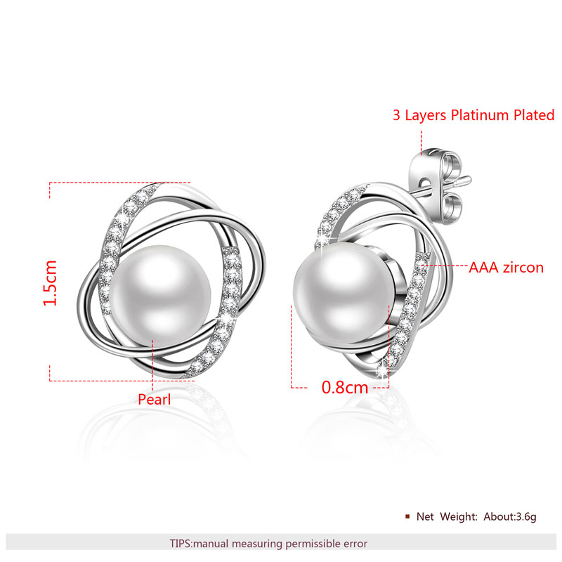The World Pearl & Diamond White Gold Stud Earrings
