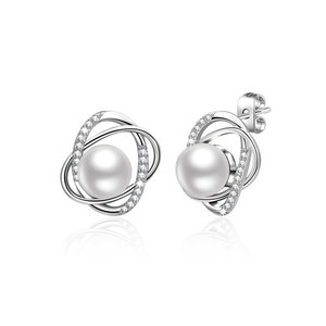The World Pearl & Diamond Earrings