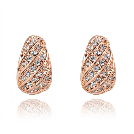 Brinjaul Rose Gold Clip Earrings
