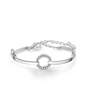 Diamond Ring Bangle - White