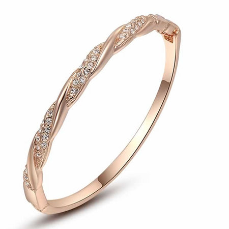 Rose Gold Mixed Star Bangle