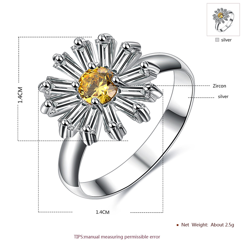 Small Daisy Flower Diamond Set - Ring