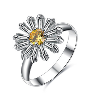 Small Daisy Flower Diamond Ring