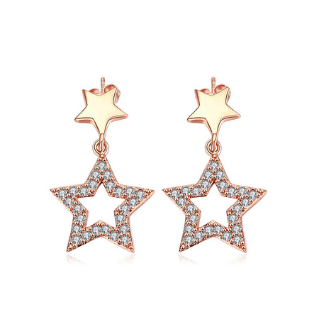 Lightning Stars Rose Gold Earrings