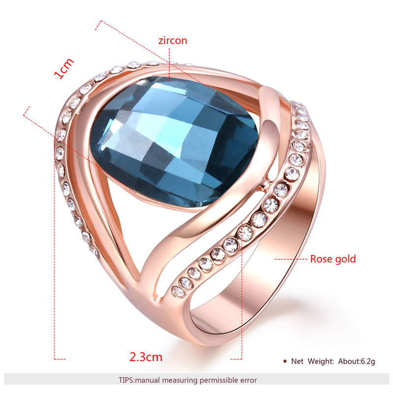 Originality Oval Sapphire Rose Gold Ring