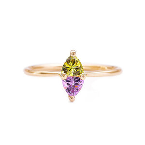 Two-Tone Marquise Diamond 18K Ring