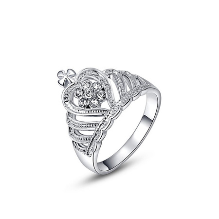 Fine Crown White Gold Ring