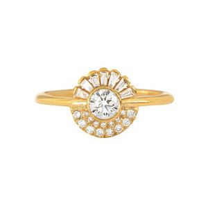 Round Full Diamond 18K Ring