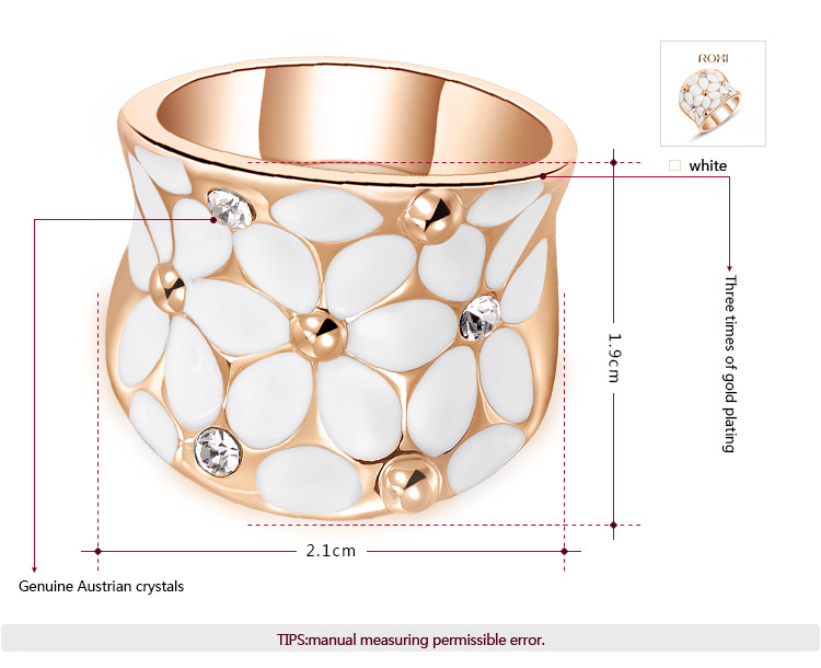 Rose Gold White Flower Set -1