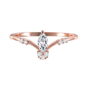 Marquise Diamond Queen Crown Ring