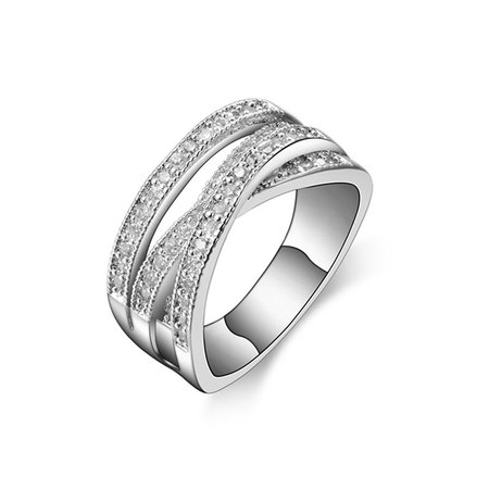 Superposition Cross White Gold Ring