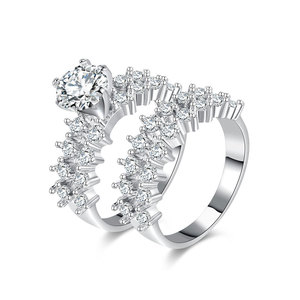 Double Row Big Scale Diamond Ring Set