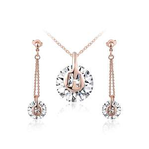 H Letter Rose Gold Set