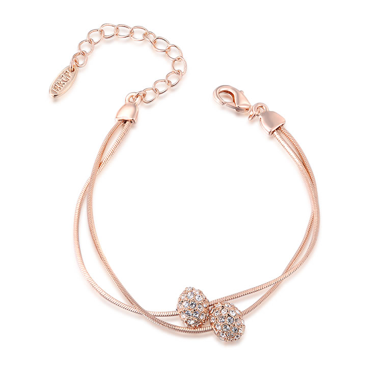 In Pairs Rose Gold Bracelet