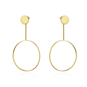 Large Hoop18K Gold Earrings