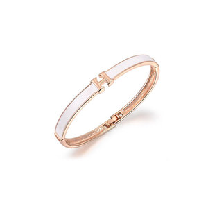 H Chars Rose Gold Bangle