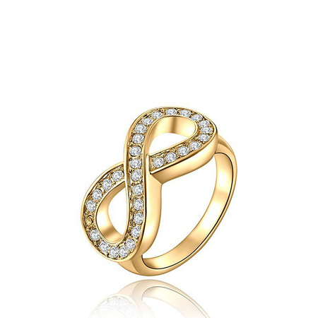 Infinity Yellow Gold Ring
