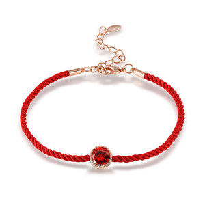 Ruby Rose Gold Red Cord Bracelet