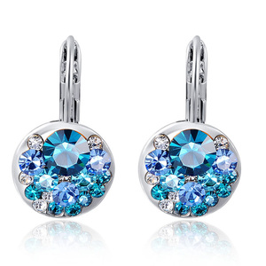 Heaps Sapphire White Gold Earrings