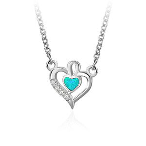 Heart and Heart 925 Sterling Silver Necklace