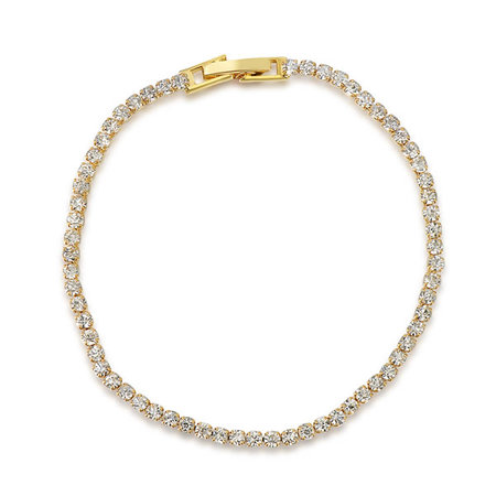 Even Diamond Yellow Gold Tennis Bracelet