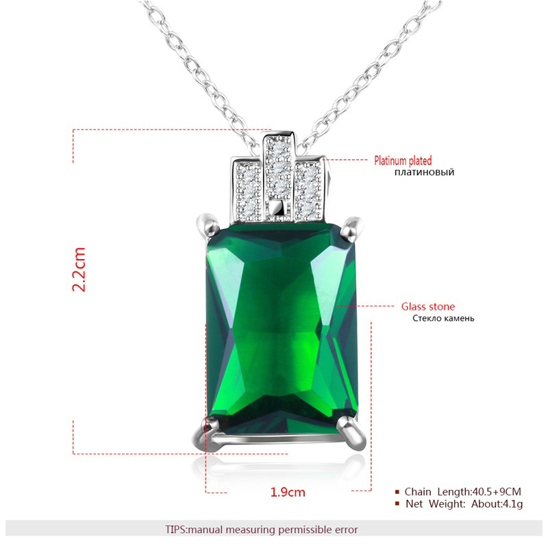Emerald Rectangle White Gold Set-1
