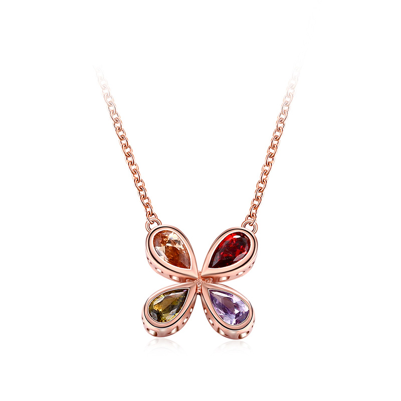 Four Leaf Clover Collarbone Chain Necklace