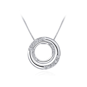 Ring Cover Ring Necklace - White